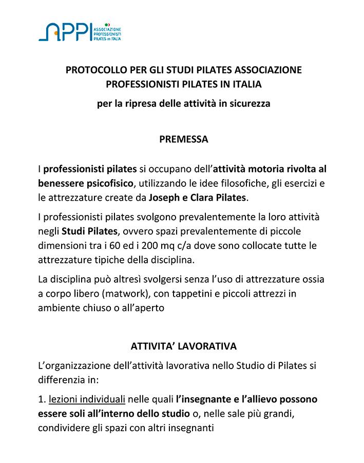 Documentazione Associazione Pilates